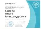 Сертификат от Педагогического конструкторского бюро финалисту конкурса